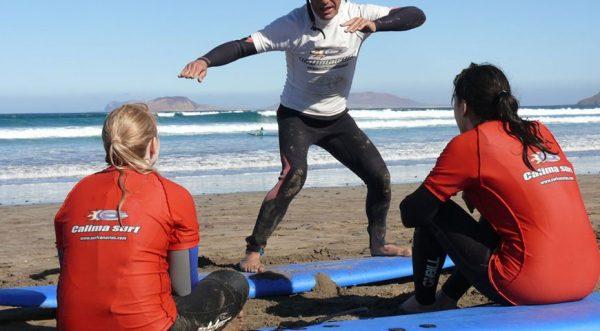 clases de surf privadas en famara