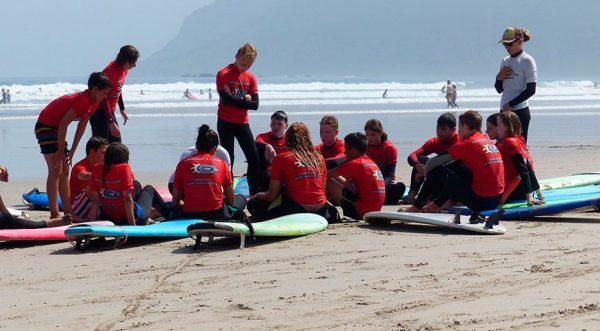 curso de surf en famara