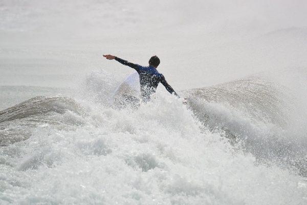 dentro del agua en lanzarote