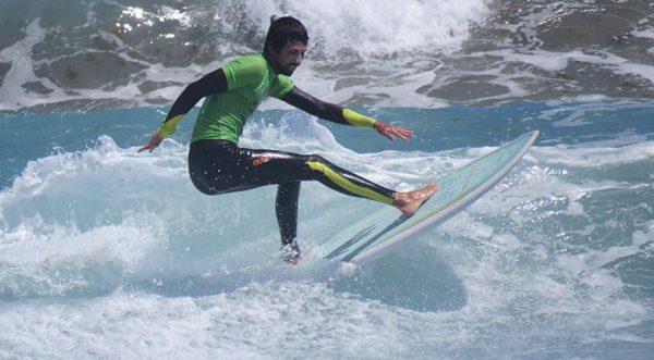 surfista avanzado en lanzarote