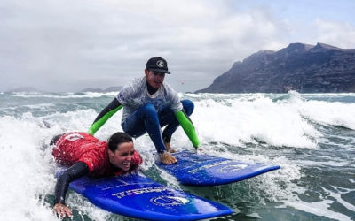 Surfing Caleta Famara